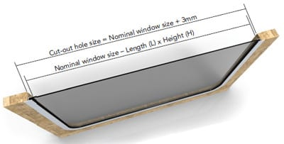 rounded fixed windows